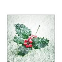 Servietten 25x25 cm - Frozen Ilex