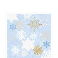 Servietten 25x25 cm - Delicate Stamps Blue