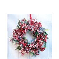 Servietten 25x25 cm - Frozen Wreath