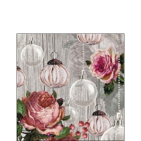 Servietten 25x25 cm - Roses And Baubles