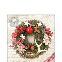 Servietten 25x25 cm - Forest Wreath