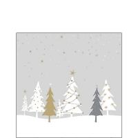 Servietten 25x25 cm - Midnight Trees Grey