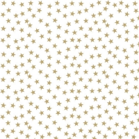 Servietten 33x33 cm - Stars And Trees Gold