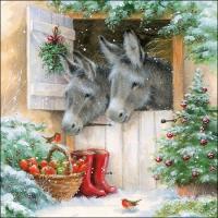 Lunch Servietten Santa´s Donkeys