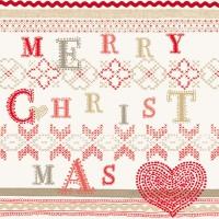 Servietten 33x33 cm - Christmas Stitch