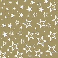 Servietten 33x33 cm - Starry Sky Gold