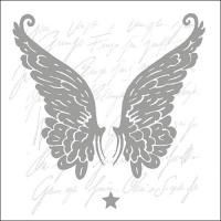 Servietten 33x33 cm - Wings Silver