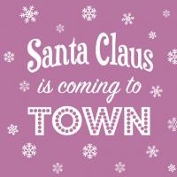 Servietten 33x33 cm - Santa is Coming Lilac