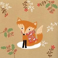 Lunch Servietten Happy Fox