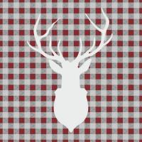 Servietten 33x33 cm - Deer Outline Red