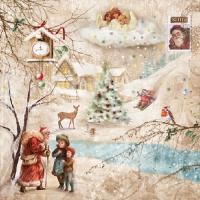 Servietten 33x33 cm - Winter-Wunderland