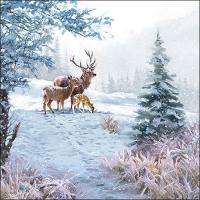 Servietten 33x33 cm - Deer Family