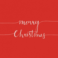 Servietten 33x33 cm - Christmas Note Red