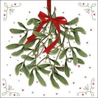 Servietten 33x33 cm - Mistletoe