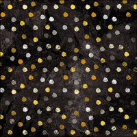 Servietten 33x33 cm - Swirling Dots Black