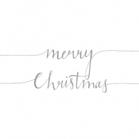 Servietten 33x33 cm - Christmas Note Pos.Silver