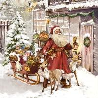 Servietten 33x33 cm - Christmas Visit
