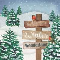 Servietten 33x33 cm - Winter-Wunderland
