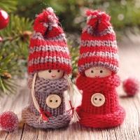 Lunch Servietten Knitting Dolls