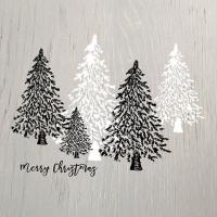 Servietten 33x33 cm - Wooden Trees Grey