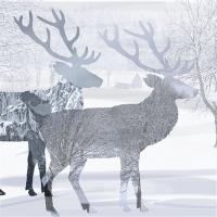 Servietten 33x33 cm - Zwei Hirsche