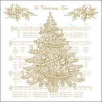 Servietten 33x33 cm - O Christmas Tree Gold