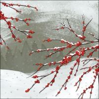 Lunch Servietten Snowy Berries