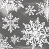 Servietten 33x33 cm - Kristalle Grau