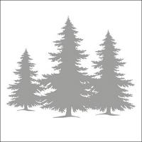 Servietten 33x33 cm - Baumsilhouette Silber
