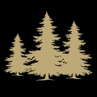 Servietten 33x33 cm - Tree Silhouette Black/Gold