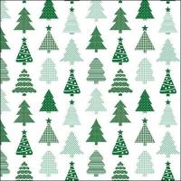Servietten 33x33 cm - Small Trees Green
