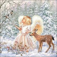 Servietten 33x33 cm - Winter Angel