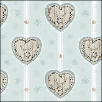 Servietten 33x33 cm - Deer Hearts