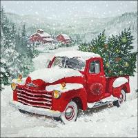 Servietten 33x33 cm - Christmas Truck