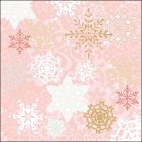 Servietten 33x33 cm - Delicate Stamps Rose