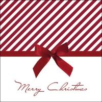 Servietten 33x33 cm - Christmas Bow Red