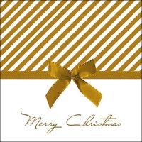 Servietten 33x33 cm - Christmas Bow Gold