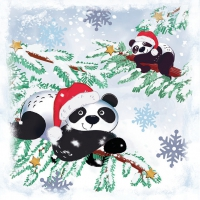 Servietten 33x33 cm - Pandas In Snow