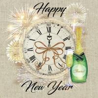 Servietten 33x33 cm - Happy New Year