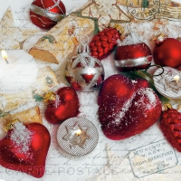 Servietten 33x33 cm - Christmas Greetings