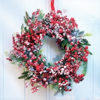 Servietten 33x33 cm - Frozen Wreath