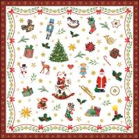 Servietten 33x33 cm - Ornaments All Over Red