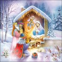 Servietten 33x33 cm - Nativity