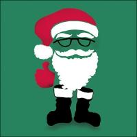 Servietten 33x33 cm - Invisible Santa Green