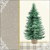 Servietten 33x33 cm - Little Tree Cream