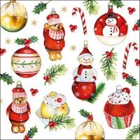Servietten 33x33 cm - Hanging Ornaments