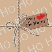 Servietten 33x33 cm - Ho Ho Gift Brown