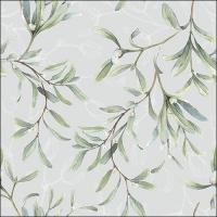 Servietten 33x33 cm - Mistletoe All Over Grey