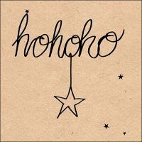 Servietten 33x33 cm - Recycled Hohoho Star