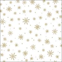 Servietten 33x33 cm - Crystals All Over Gold
